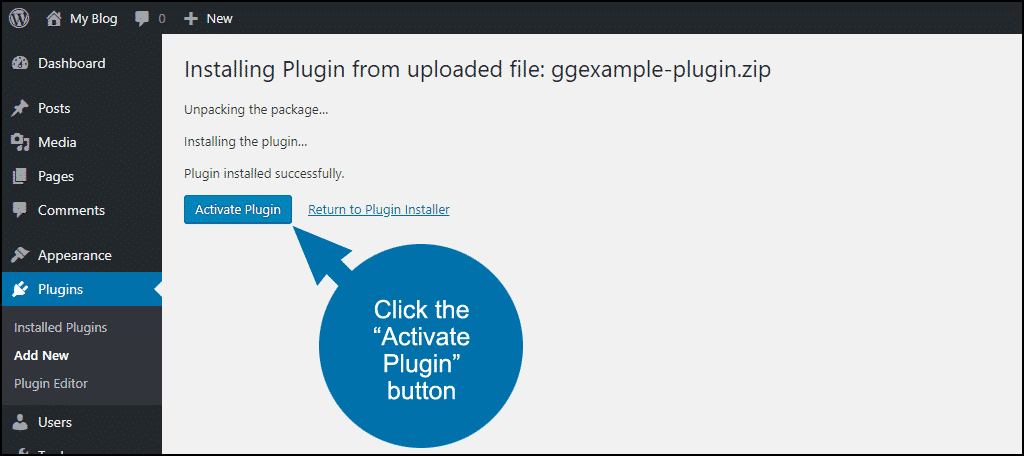 tutorial create site-specific custom WordPress plugin step 9