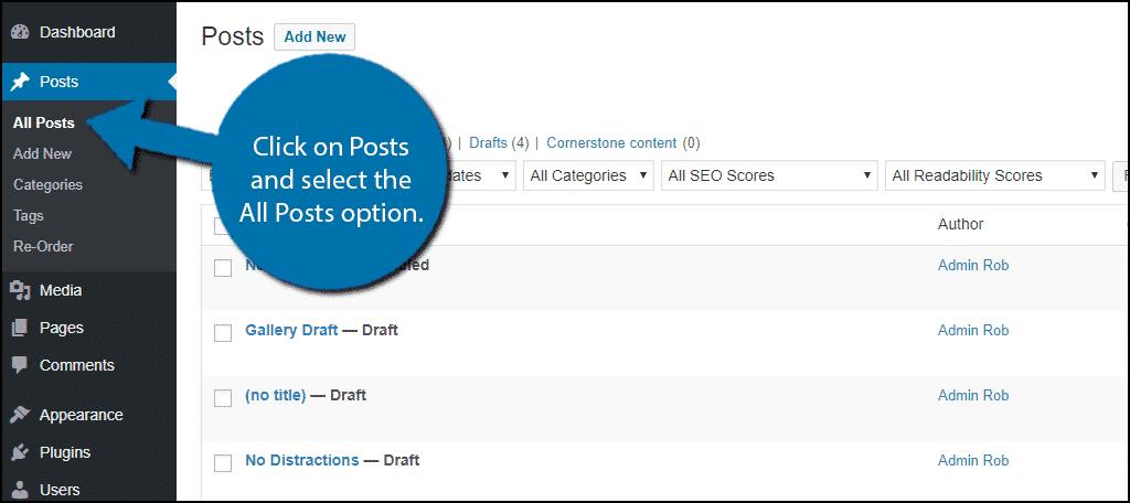 Select All Posts Option