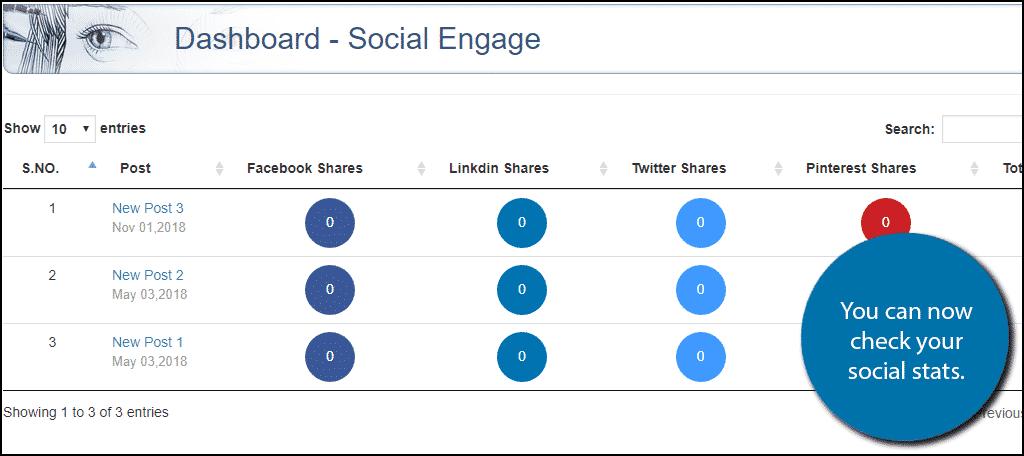 View Social Stats