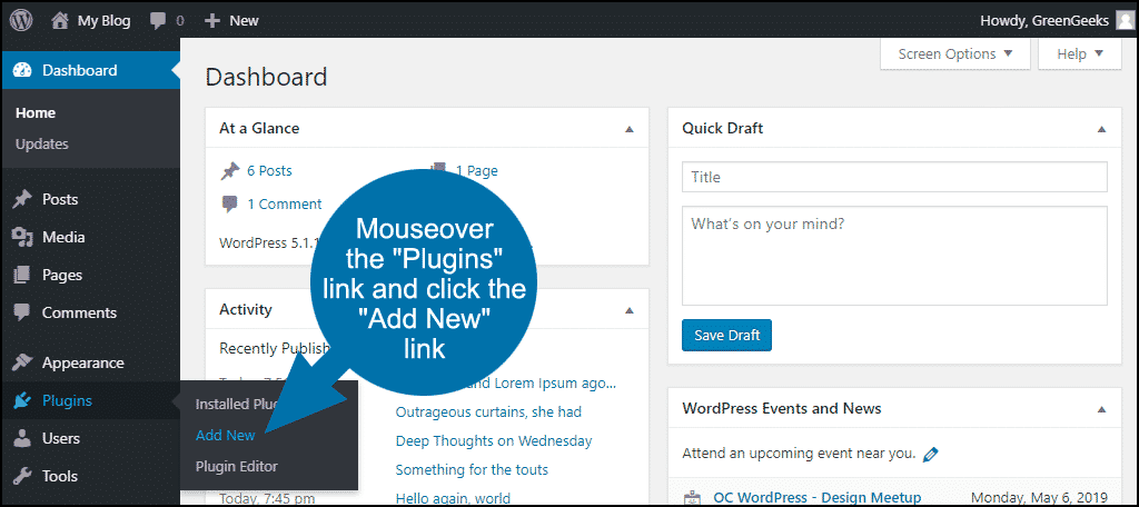 how to exclude posts or pages from WordPress search step 1