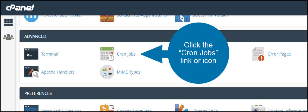 how to set up cron jobs in cPanel