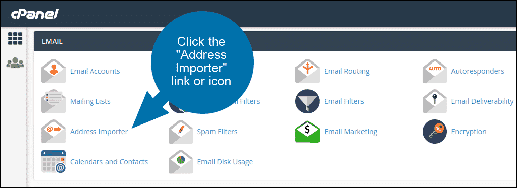 cPanel email address importer, step 1