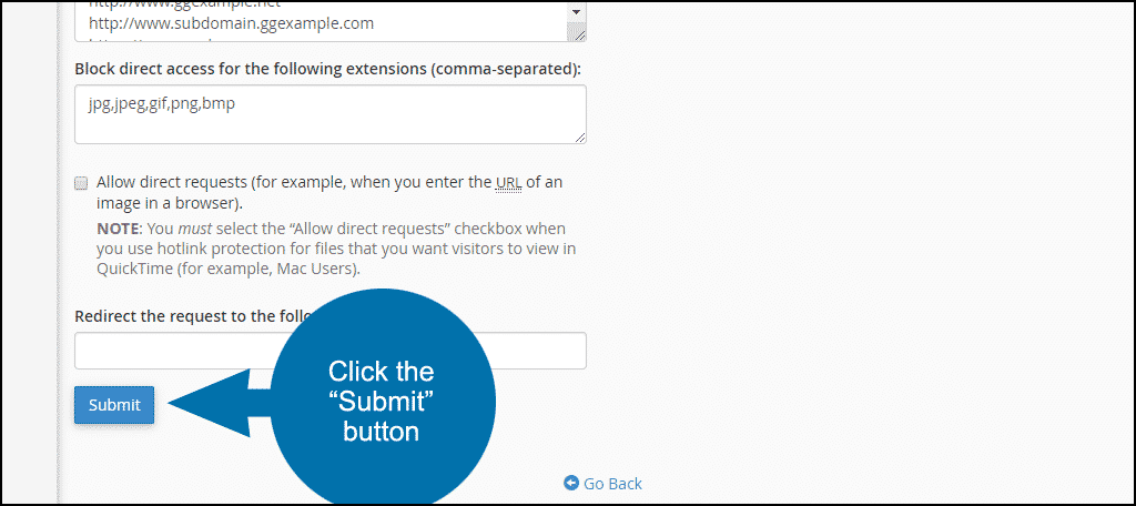 "click the ""Submit"" button"
