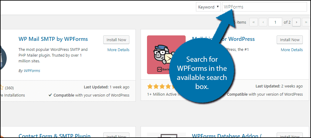 Search For WPForms