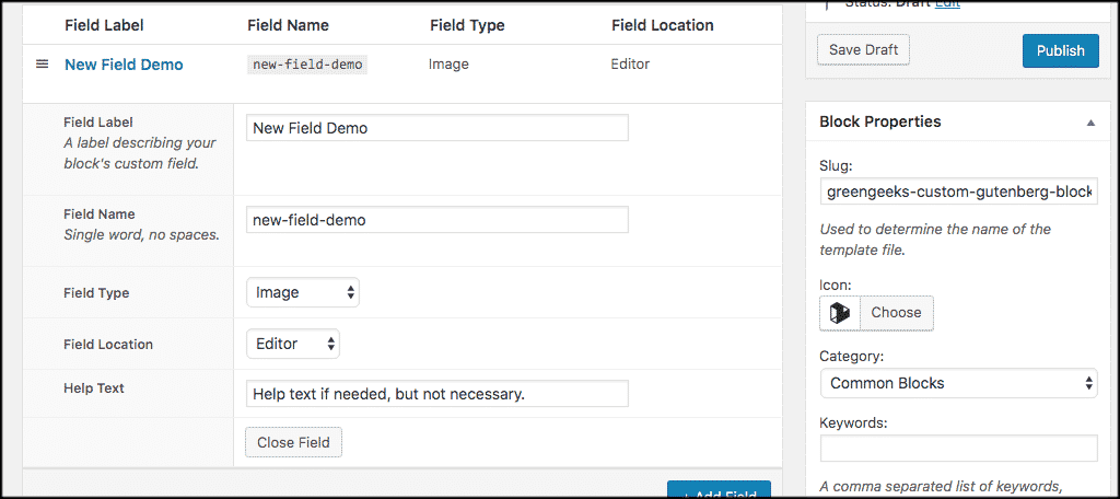 Add as many fields as you want