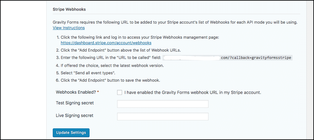 Stripe donate button webhooks