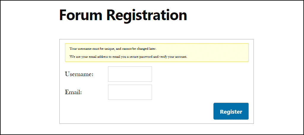 a link to a sign-up page