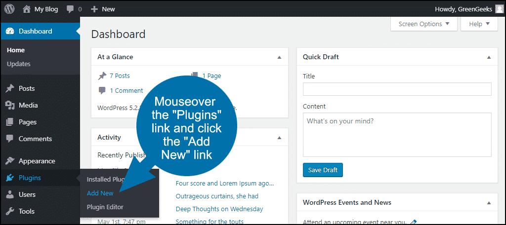 Installing the Newsletter WordPress plugin