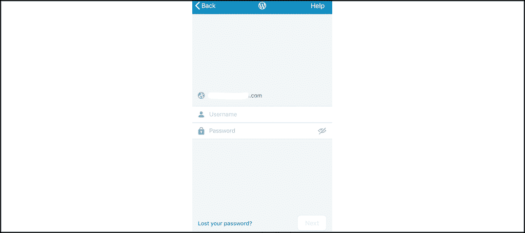 Wordpress app admin login