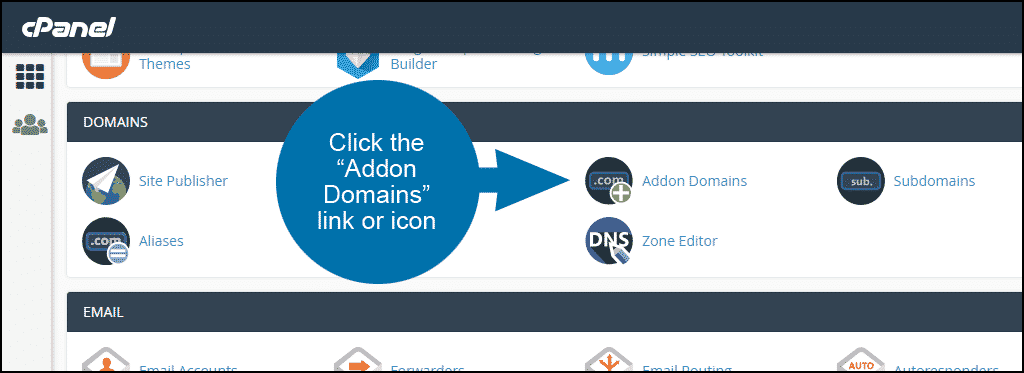 how to set up an addon domain in cPanel