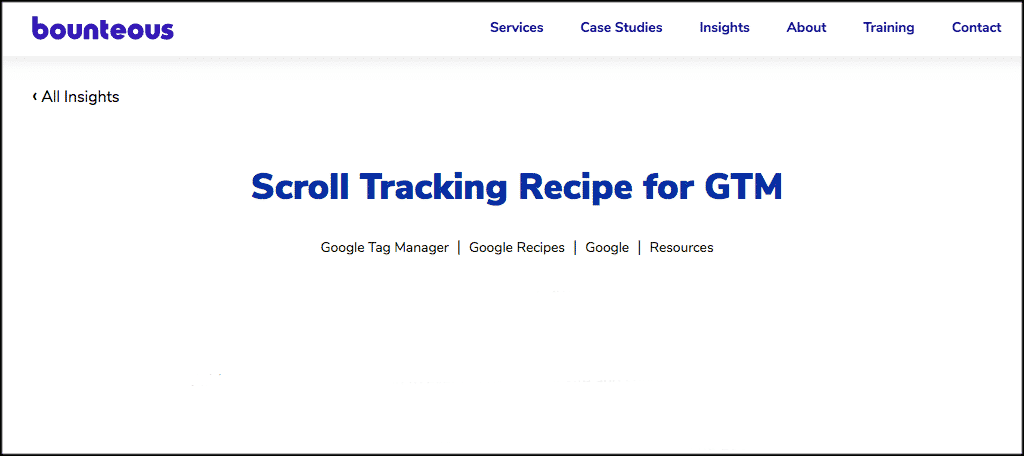 Scroll tracking recipe plugin
