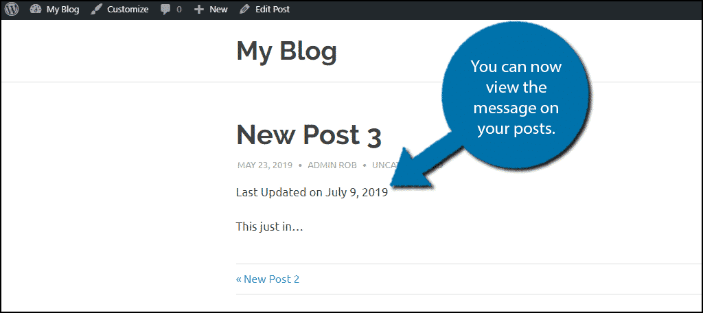 how to show when posts were last updated in wordpress - greengeeks  greengeeks