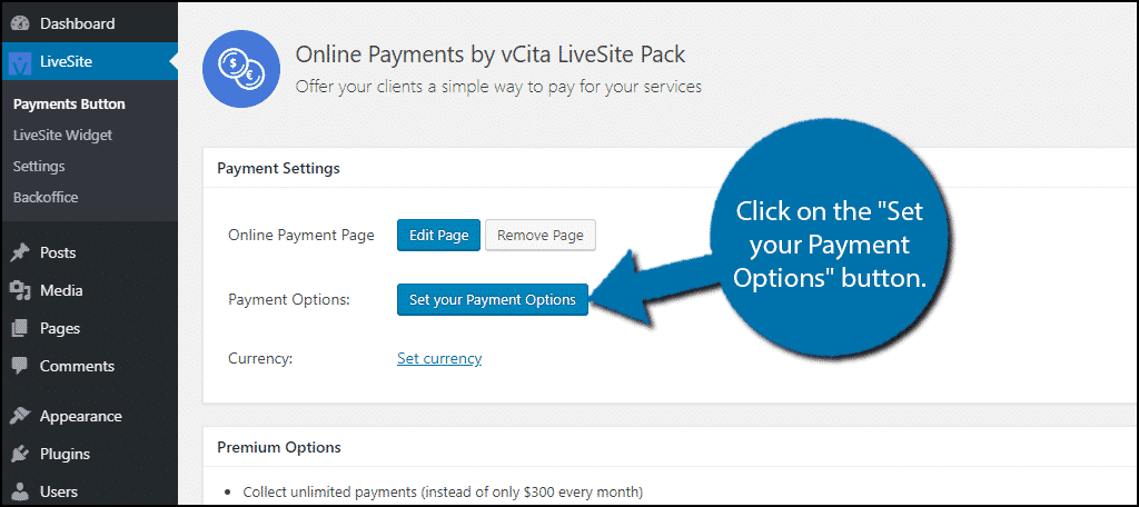 Set You Payment Options