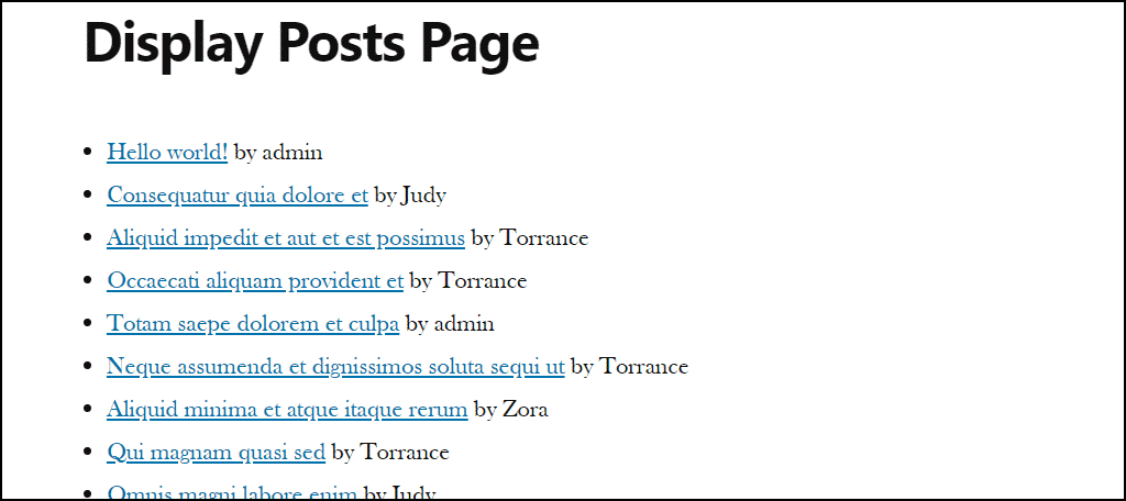 display posts with author