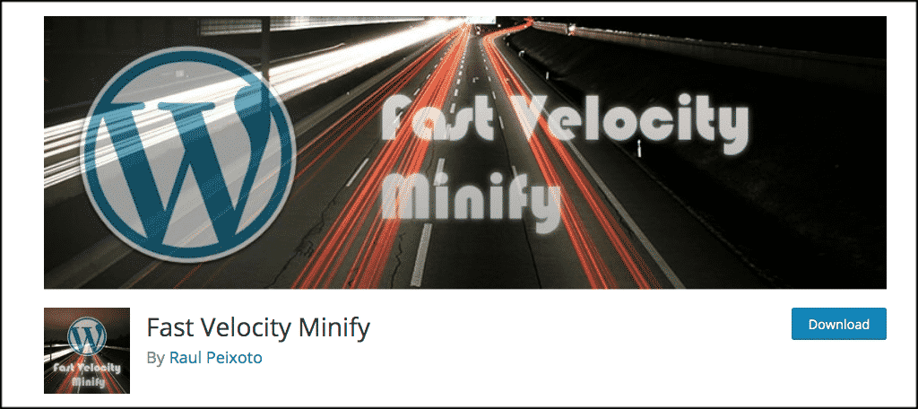 Fast velocity minify plugin