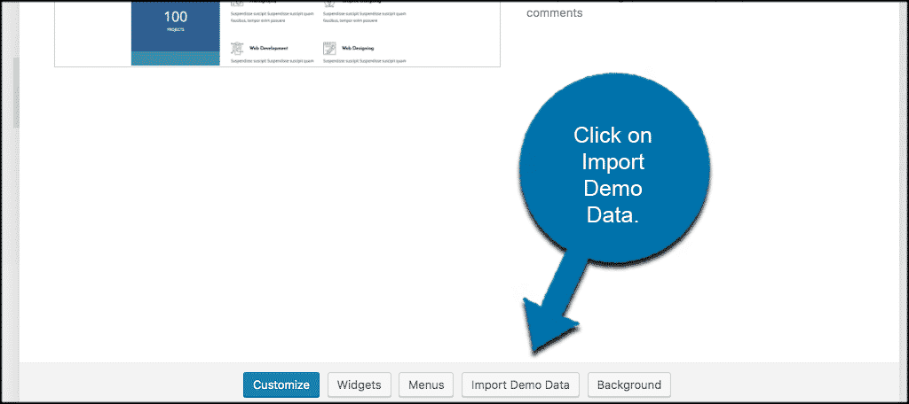 Import wordpress demo data