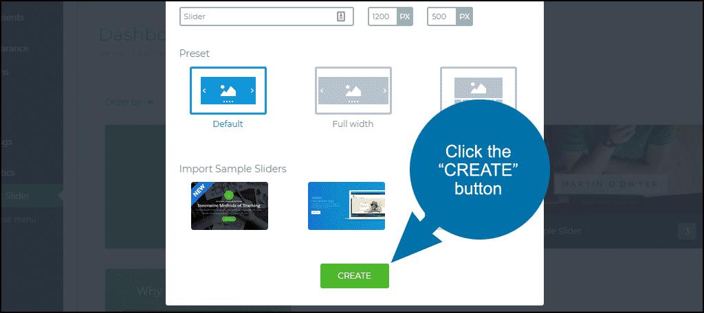 """click the """"CREATE"""" button"""