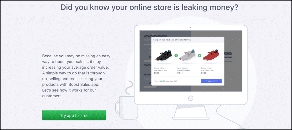 Boost sales page