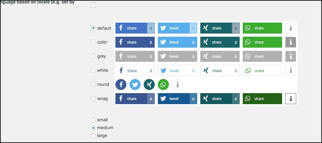 Button design options