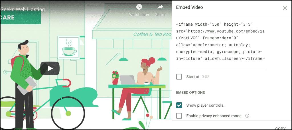 Embed code for wordpress youtube widget box