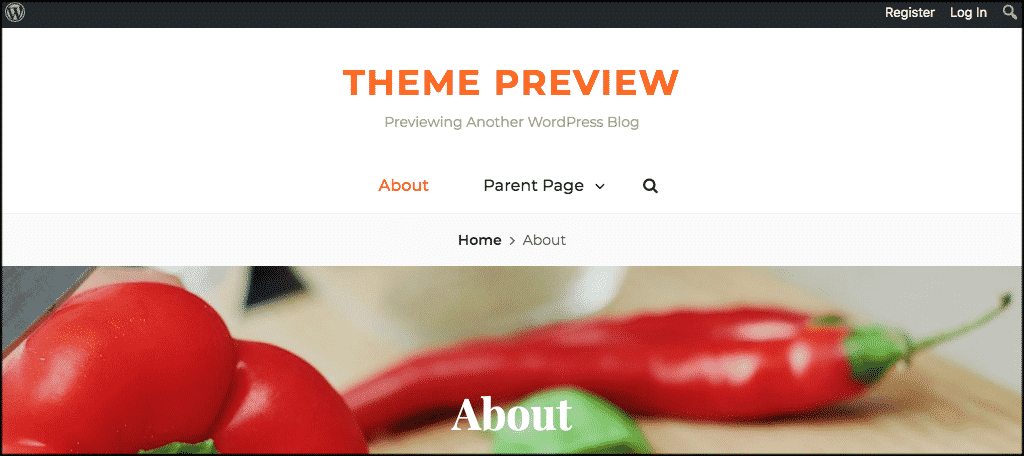 Foodie world recipe blog theme