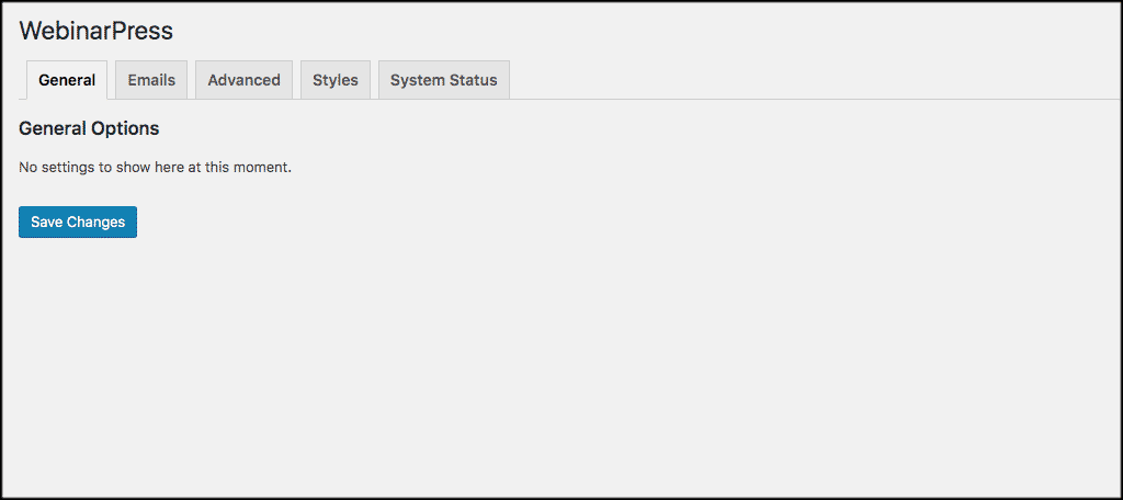 General webinar settings