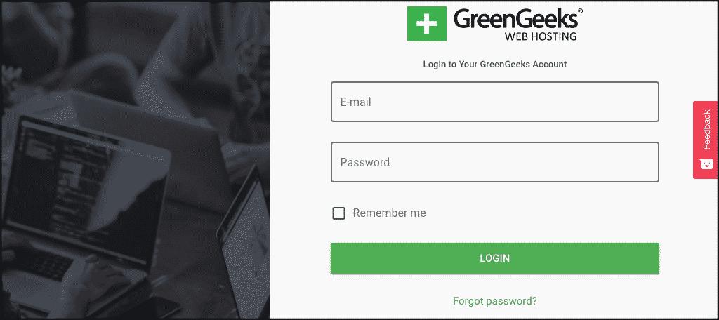 Login to GreenGeeks