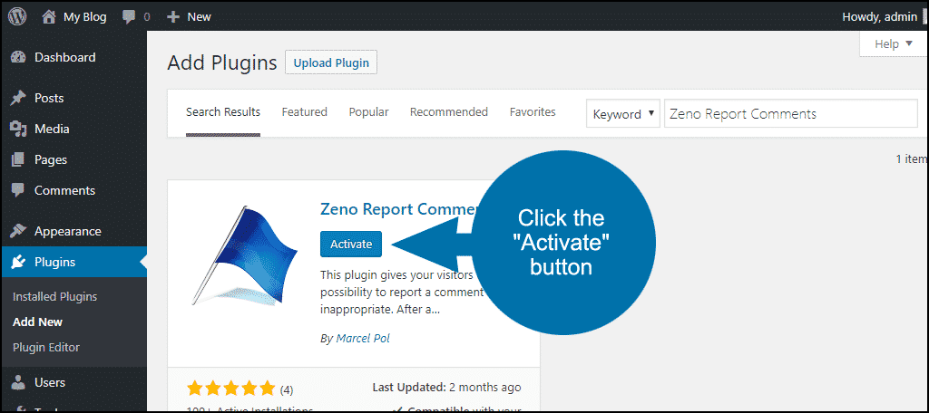 click to activate the WordPress Zeno Report Comments plugin