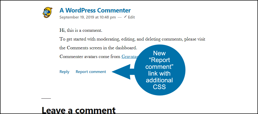 new link with css styling