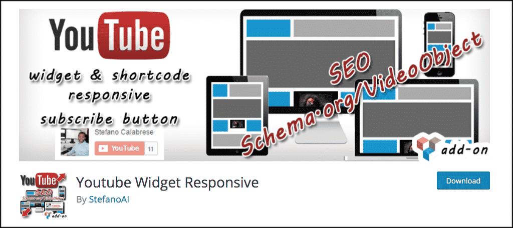 YouTube widget responsive