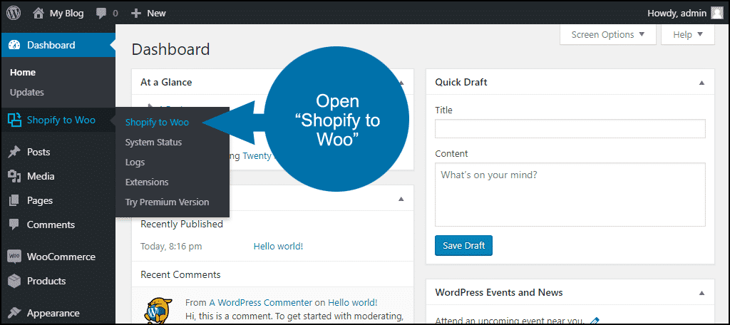 open the S2W – Import plugin