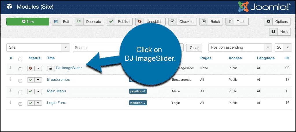 Click on dj imageslider