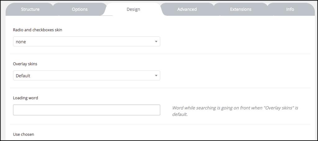Plugin design