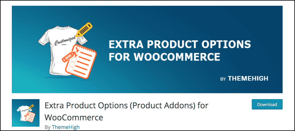 WooCommerce Extra product options plugin