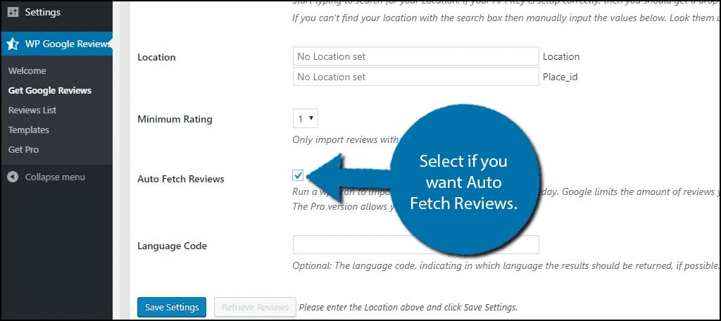 Auto Fetch Reviews