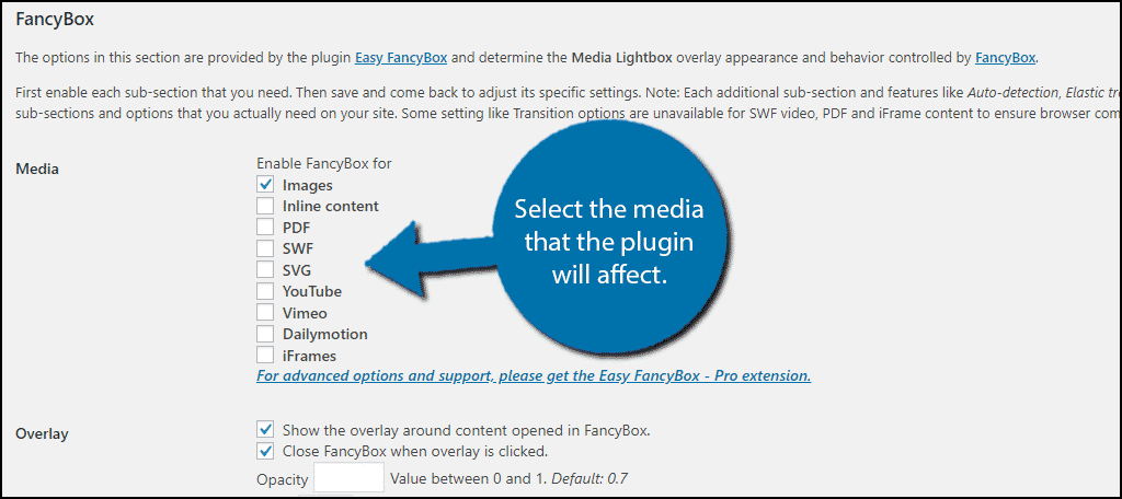 Select Content Type