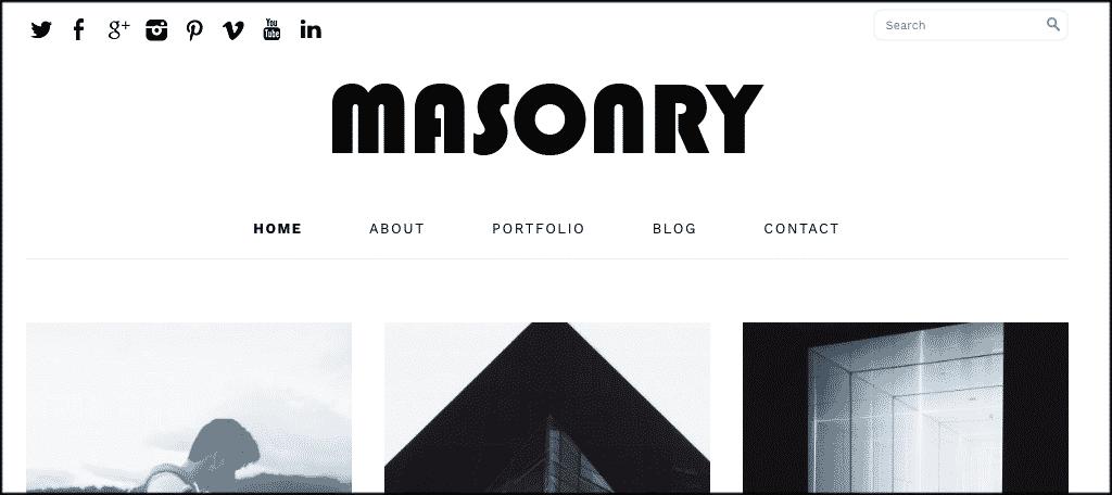 Masonry theme
