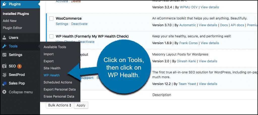 Tools wp health
