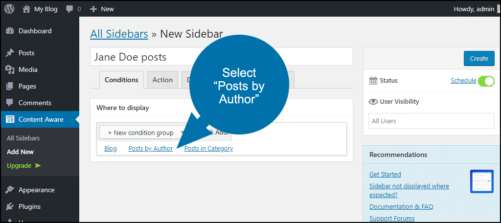 select posts by author