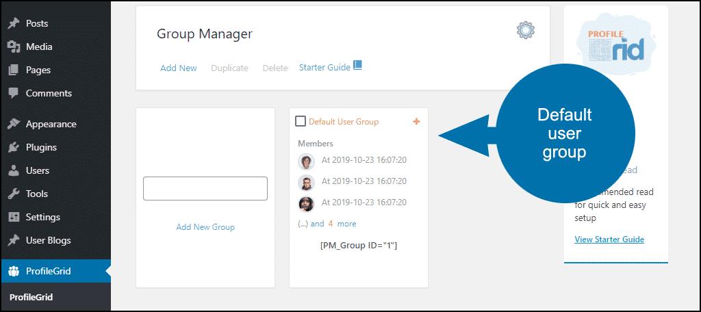 Default User Group