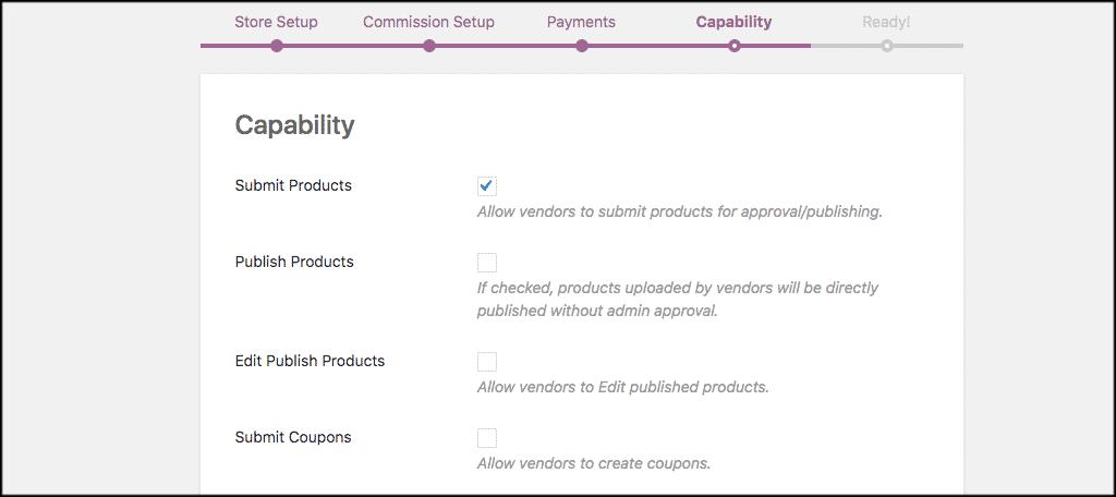 Capability tab