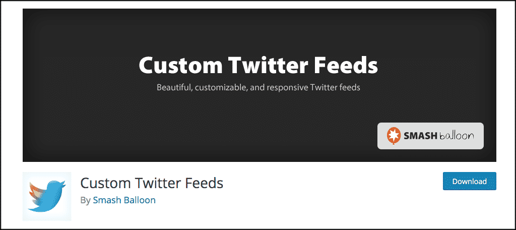 Custom twitter feeds plugin