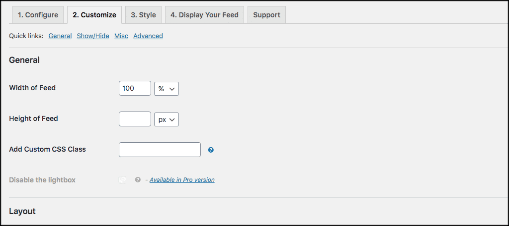 Customize wordpress twitter feed tab