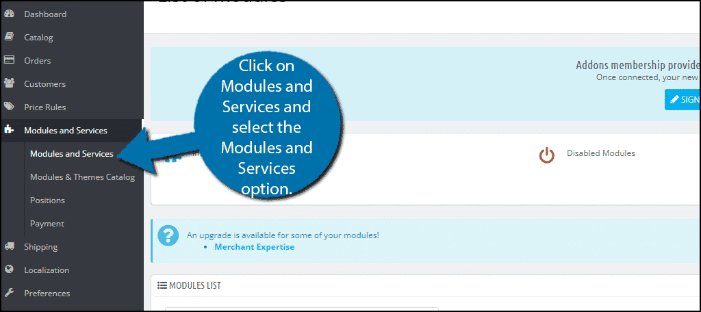 Modules and Services