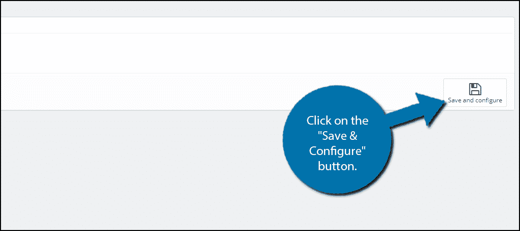 Save and Configure