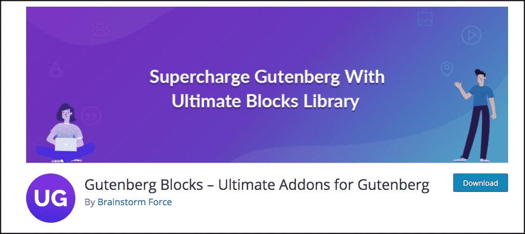 Gutenberg blocks ultimate addon plugin