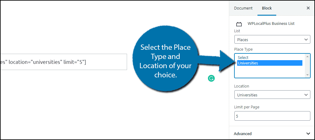 Select A Place
