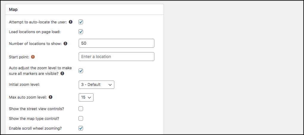 Map field for store locator wordpress plugin