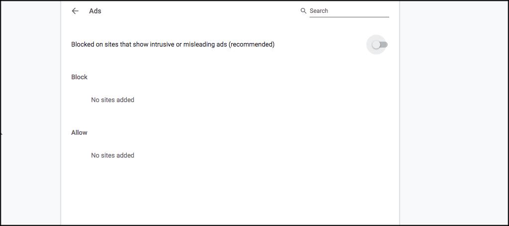 Chrome ad options