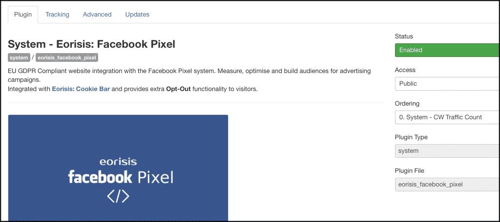 Facebook pixel joomla plugin